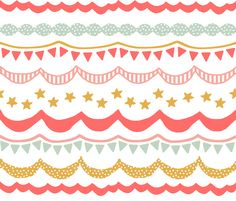 Carnival in Summer Brights fabric by willowlanetextiles $17.50/yd  This fabric is so playful.  This would make a a cute crib skirt or drape (swag/cafe curtain).