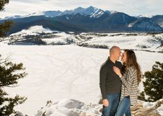 Proposal Sapphire Point Overlook Dillon Lake Winter Engagement