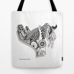 Zentangle Peace Dove for the Holidays  Tote Bag by Vermont Greetings - $22.00