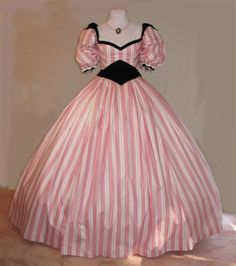 One of my favorite Southern Belle Dresses worn by Terri Garber in the  tv miniseries: North & South!!!! (Front View)
