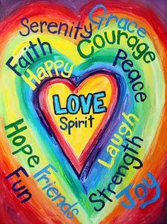 Rainbow Heart Spirit Words
