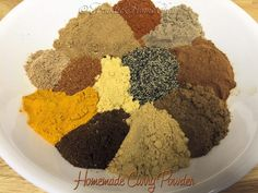This is my original curry powder recipe. Easy to make & tastes extremely better than the commercial curry powder you buy in the supermarket. Homemade Spices, Homemade Seasonings, Homemade Curry Powder, Indian Cookbook, Fried Fish Recipes, Spice Mixes, Spice Blends, Powder Recipe, Spices And Herbs
