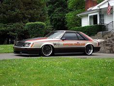 four eyed fox mustang pace car. Ford Mustang Fox Body, 1979 Ford Mustang, Mustang Cars, Custom Muscle Cars, Custom Cars, Rat Rods, Chevrolet Camaro, Corvette, Us Cars