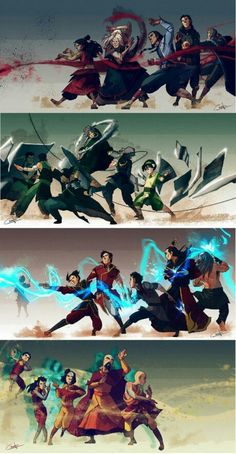 Is that Zuko in the back of the lightning benders bein salty?