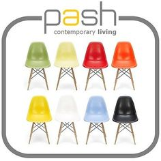 "DSW ""Eiffel"" chaise eames inspiré Bauhaus-côté de salle à manger en plastique abs + jambe de bois in Garden & Patio, Garden & Patio Furniture, Garden Chairs | eBay"