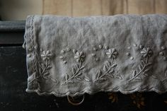 embroidery on linen.