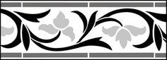 Click to see the actual IN34 - Border No 21  stencil design.