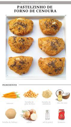 pastel integral (cenoura, grao de bico, farinha de coco, farinha de linhaca…