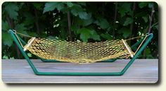 hammock in 1:12 scale using straws, wood dowels & netting from real life fruit bags