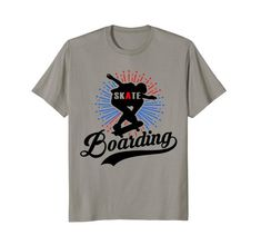 Cool #Skateboarding #Tshirt in several sizes & colors.  Casual fashion #clothing you'll love wearing or giving to the #skateboarder in your life.  Shop this shirt now.