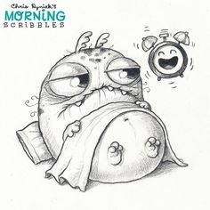 WEBSTA @ chrisryniak - The morning struggle is real. ⏰ #morningscribbles