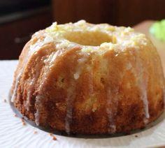 Moist lemon flavored bundt cake