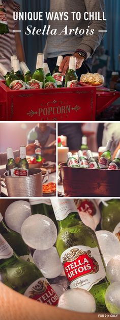 Summer is the time to elevate the traditional way of chilling beer. Icing down your Stella Artois at a backyard barbecue, dinner party, or happy hour with friends is an opportunity to get creative, and present your guests with a beautiful - and cold - Stella Artois.