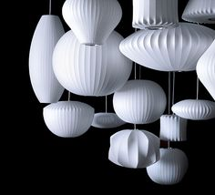 Bubble Lamps - George Nelson http://www.rume.co.uk/bubble-lamp-criss-cross.html