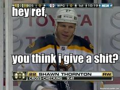 Shawn Thornton. Is it just me or does he have that expression a lot ;)