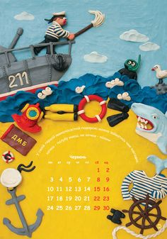 Plasticine calendar on Behance