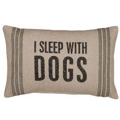 """ONLY ONE LEFT! This pillow is a must have for any dog lover! 15""""w x 10""""h Cotton, Polyester"""