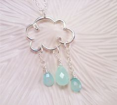 Cute cloud necklace by MarylinJ