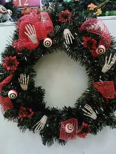 Fun Halloween wreath
