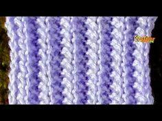 Como tejer el punto grande de zig zag en dos agujas - YouTube