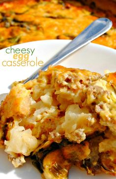 Overnight Egg Casserole: the perfect brunch dish! by sheryl Overnight Egg Casserole, Crockpot Recipes, Chicken Recipes, Brunch Dishes, Egg Dish, Family Meals, Appetizer Recipes, Macaroni And Cheese, Breakfast Recipes