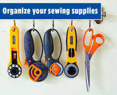 Create a clutter-free work space by storing your scissors, rulers, thread, and other notions with one of these stylish organization ideas. Sewing Tools, Sewing Crafts, Storage Organization, Organizing, All People Quilt, Studio Spaces, Quilting Tips, Clutter, Art Supplies