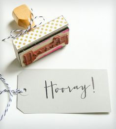 """Hooray!"" Stamp 