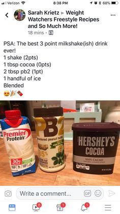 Protein shake recipes 64387469660438062 - Weight Watchers Smoothies Protein Shakes Low Carb New Ideas Source by Weight Watcher Desserts, Weight Watchers Snacks, Weight Watchers Smoothies, Plats Weight Watchers, Weight Watchers Smart Points, Weight Loss, Weight Watchers Ready Meals, Protein Smoothies, Desserts