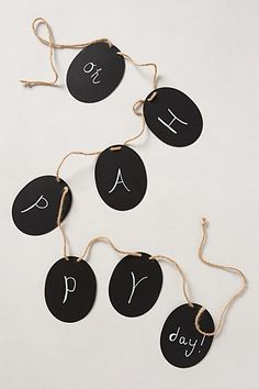 Blackboard Garland - anthropologie.com #anthrofave
