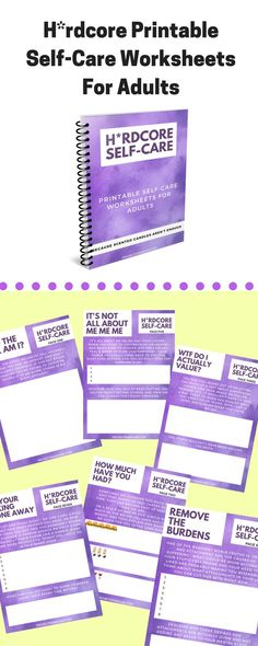Are you sick of the usual self-care advice out there?that's why I created the Hardcore Self-Care worksheets for adults. Mental Health Blogs, Kids Mental Health, Mental Help, Health Resources, Self Care Worksheets, Printable Worksheets, Printables, Fitness Workouts, Fitness Motivation