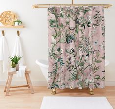 60% off this Wild Future Shower Curtain, get it for only €23.45 instead of €58.60!! Use code [ GIFTS60 ] Pink Shower Curtains, Pink Showers, Future, Shop, Prints, Future Tense, Store
