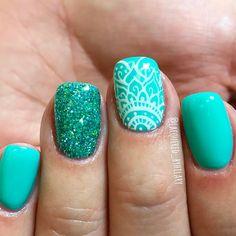 BOHO nails with some mandalas by Hilary Dawn Herrera