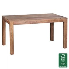 FineBuy Esstisch Massivholz Akazie 140 X 80 76 Cm Esszimmer Tisch Design Kchentisch Modern