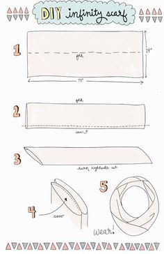 infinity scarf length and width chart - Google Search