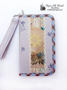 Zipper Wallet Purse Natural Linen 31 Pockets 26 by ningssilkworld -10% off Coupon code PIN10