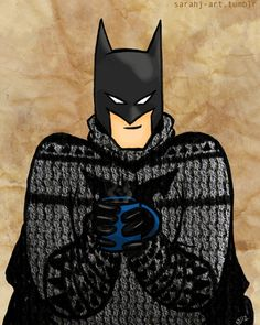 I decided to do a more polished version of Ordinary Batman in a sweater. And, now you can get him on a hoodie too! Not quite the awesome sweater we'd all love to have, but it gets ya kinda close....