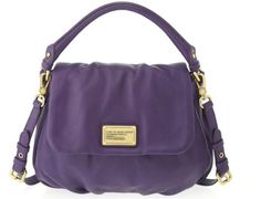 Marc by Marc Jacobs Classic Q 'Lil Ukita' Satchel, Pansy Purple - http://handbagscouture.net/brands/marc-by-marc-jacobs/marc-by-marc-jacobs-classic-q-lil-ukita-satchel-pansy-purple/