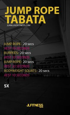 Jump rope Tabata with 5 rounds. Do box jumps if you don't have a jump rope or yo… Jump rope Tabata with 5 rounds. Do box jumps if you don't have a jump rope or you don't know how to. Reto Fitness, Fitness Tips, Tabata Workouts, At Home Workouts, Amrap Workout, Tabata Fitness, Workout Kettlebell, Boxing Workout, Running Workouts
