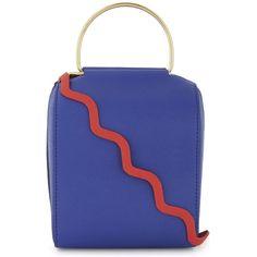 Roksanda Besa leather cross-body bag ($995) ❤ liked on Polyvore featuring bags, handbags, shoulder bags, crossbody shoulder bag, leather cross body handbags, blue crossbody purse, blue leather shoulder bag and cross-body handbag