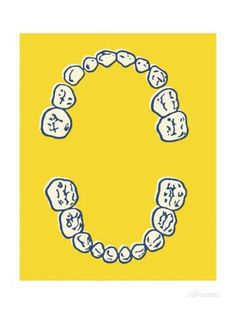 Set of Human Teeth Prints by Pop Ink - CSA Images at AllPosters.com