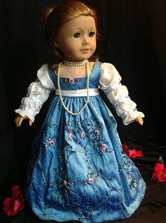Silk Dupioni Regency Ball Gown Dress for American Girl Caroline by Rand Fashions | eBay