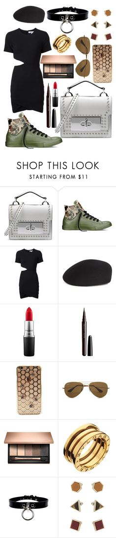 """""""Untitled #72"""" by cemlais22 on Polyvore featuring Marc Jacobs, Converse, Elizabeth and James, Eugenia Kim, MAC Cosmetics, Ray-Ban, Bulgari and Topshop"""