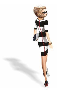 Figurín de moda en formato vectorial de Eduardo Meliá > Entrevista y más figurines en >> http://www.corelclub.org/corel-entrevista-eduardo-melia/