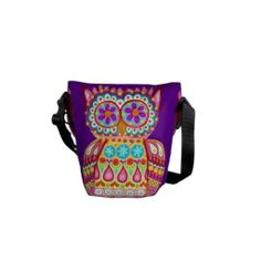 Shop Cute Retro Owl Messenger Mini Bag created by thaneeyamcardle. All Things Cute, Girly Things, Native Design, What Should I Wear, Pack Your Bags, Beautiful Bags, Mini Bag, Bag Accessories, Crazy Owl