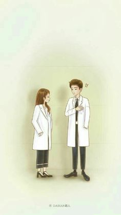 In my heart is only you Medical Wallpaper, Cartoon Wallpaper, Korean Art, Korean Drama, Anime Couples, Cute Couples, My Shy Boss, Chibi, Cute Couple Wallpaper
