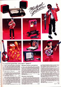 "LJN ""Michael Jackson"" musical instruments (Mike's mike has its own pin)"