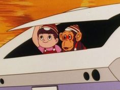 """Quick, Chim Chim! Speed will never notice if we hide in the trunk!"""