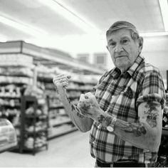 One day thos eguys with tatts are going to be Old man with tattoos and they don't look as wonderful when you trade leather& denim for chinos & flannel