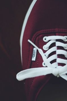 maroon vans with white laces b237f52b5