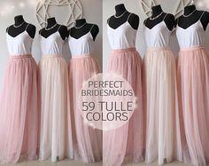 15% SALE! Bridesmaids Dress Tulle Skirt Long Floor Length Women s Tulle  Skirt Women Tulle Skirt Wedding Long Blush Pink Ivory Tulle Dress f16d20a9ba07